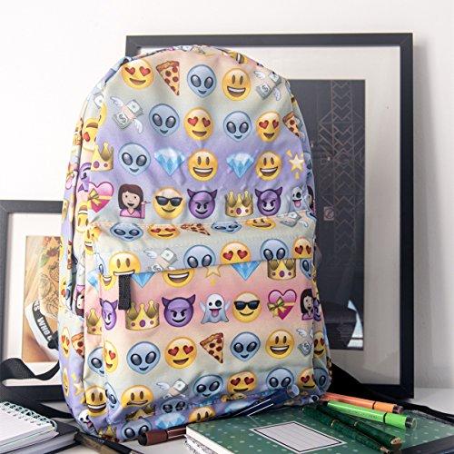 Imagen de escuela , gracosy school backpack  linda emoji para la escuela el trabajo el deporte comidas campestres al aire libre eventos bolsa de portátil alternativa