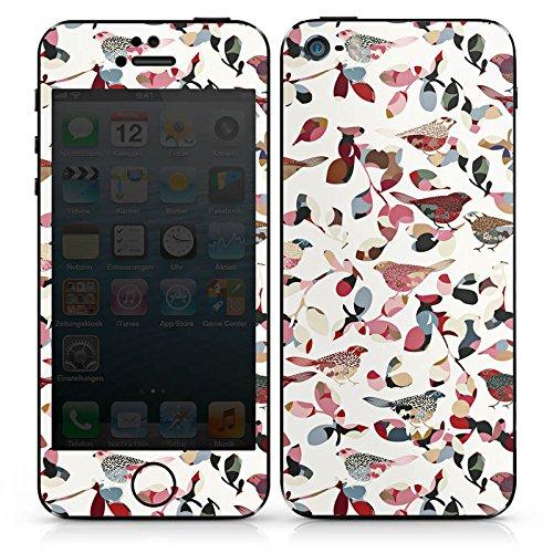 Apple iPhone SE Case Skin Sticker aus Vinyl-Folie Aufkleber Vögel Frühling Muster DesignSkins® glänzend