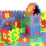 FALAIDUO 36Pcs Baby Child Number Alphabet Puzzle Foam Maths Kindergarten Educational Lerning Toy Gift (Multicolour)