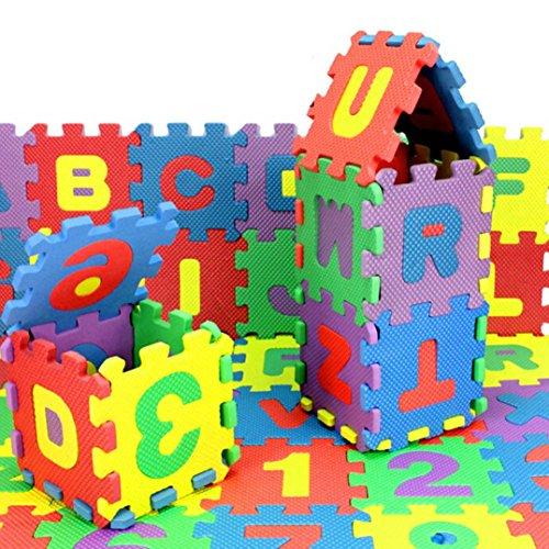 Coupon Matrix - FALAIDUO 36Pcs Baby Child Number Alphabet Puzzle Foam Maths Kindergarten Educational Lerning Toy Gift (Multicolour)