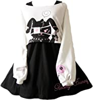 Himifashion Print - Kleid Kawaii Kaninchen 2 stücke für mädchen 2018 Neue Kleider
