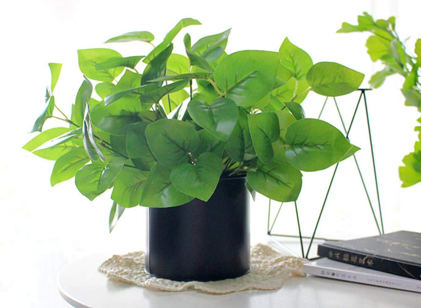 SUXIAO Planta Verde Ramo de árbol Begonia Artificial Hoja Planta Material de Pared Plástico Césped para decoración del…