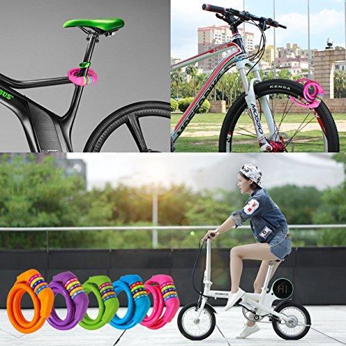 1.2m Hohe Sicherheit 5-stellige rücksetzbare Kombination Coiling Fahrradschloss Schlösser & Sicherheit