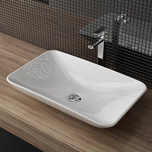Waschbecken24 DESIGN KERAMIK AUFSATZWASCHBECKEN WASCHTISCH WASCHSCHALE WASCHPLATZ FÜR BADEZIMMER GÄSTE WC A65