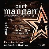 Curt Mangan Phosphor Bronze 10-50 jeu de cordes pour guitare acoustique