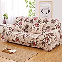 SZYUY Sofa Cover Slipcover Sets Throw Sofa Cover Wrap Tightening All-Inclusive Elastic Cutout Sofa Seat Covers Slipcovers (Blooming Flower)@145X185Cm/57X72In