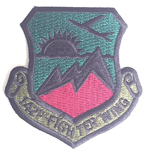 142nd-fighter-wing-us-air-force-subdued-militare-patch-ricamati-mod-approvato