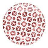 Feinkost Käfer GmbH 102729 Geschirr, Porzellan, Weiß/Rot, 19 x 19 x 2 cm, 1 Einheit