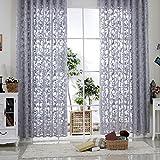 R.LANG Gardinen Wohnzimmer mit Kräuselband Oben Vorhang Grau HxB 245x300 cm