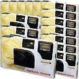 15 x PHOTO PORST matrimonio fotocamera usa e getta 'crema di colore matrimonio Rose (con Flash e batterie, da 27 foto, ISO 400 Fuji) immagine