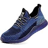 Veligheidsschuoenen Heren Dames Werkschoenen Safety Shoes S3 Lichtgewicht Ademend Sportief Beschemende Schoenen Stalen Neus S