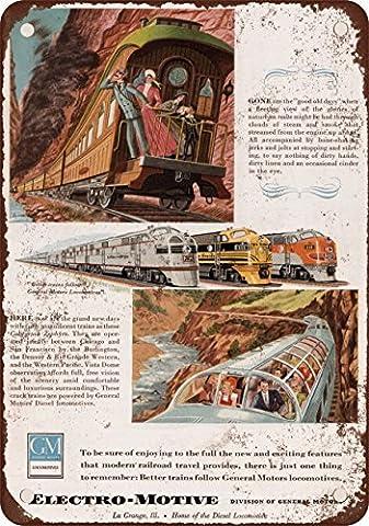 1949EMD locomotives Look vintage Reproduction plaque en métal 20,3x 30,5cm