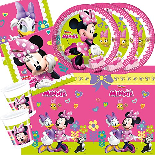 t Minnie Mouse - Minnie Happy Helpers - Teller Becher Servietten Tischdecke für 8 Kinder (Minnie Mouse-pappteller)