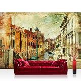 Vlies Fototapete 350x245 cm - Top ! PREMIUM PLUS Foto Tapete ! Wandbilder XXL Wandbild Bild Fototapeten Tapeten Wandtapete Wanddeko Wand Stadt Venedig Italien - no. 257