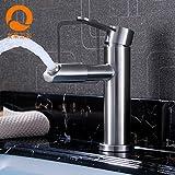 NewBorn Faucet Küche oder Badezimmer Waschbecken Mischbatterie Chrom Einloch Waterfall-Tray nach Oben Leitungswasser Taichung Becken Wasser unter Hohem Tippen