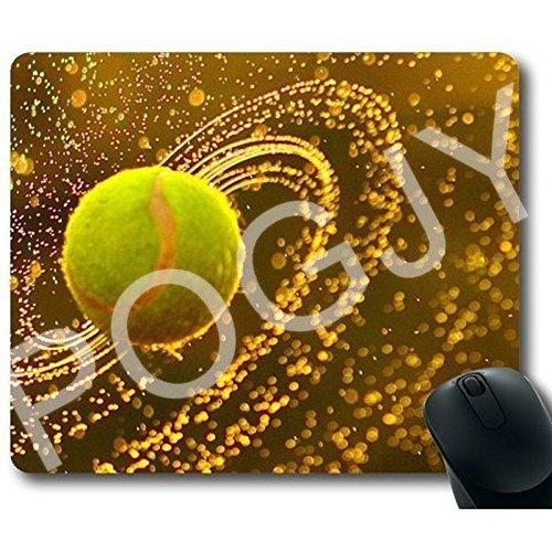 Preisvergleich Produktbild POGJY Gaming Mauspad 7 x 8 Inches,  Mousepad,  Verbessert Präzision und Geschwindigkeit,  Gummiunterseite für Stabilen Halt auf Glatten Oberflächen,  Rutschfest,  Strapazierfähig Schwarz - Tennis Ball image 698