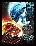 Pyramid International Marvel Extreme (Ghost Rider) 30x40 cm gerahmter Druck, 250GSM PAPERWRAP MDF, Mehrfarbig, 44 x 33 x 4 cm