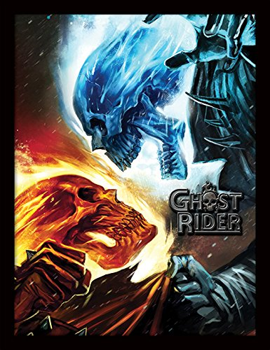 Daredevil Marvel Kostüm Comics - Pyramid International Marvel Extreme (Ghost Rider) 30x40 cm gerahmter Druck, 250GSM PAPERWRAP MDF, Mehrfarbig, 44 x 33 x 4 cm