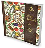 """GOCKLER® Leeres Kochbuch: Ein Rezeptbuch zum Selbstgestalten / Selberschreiben • Für 100 Lieblingsrezepte, mit Register uvm. • DesignArt """"Vegan"""" • Softcover, ca. 21 x 21 cm"""