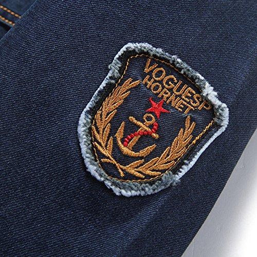 Denim Jeansjacke Herren Blau übergangs Jacke Freizeit Sakko 66008A - 3