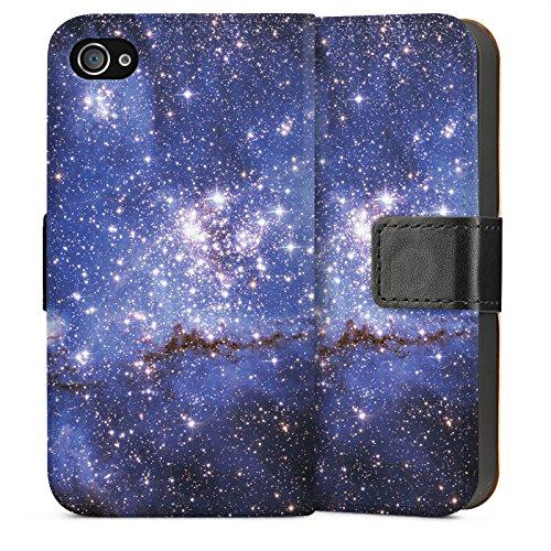 Apple iPhone 5 Housse Étui Silicone Coque Protection Galaxie Motif Motif Sideflip Sac