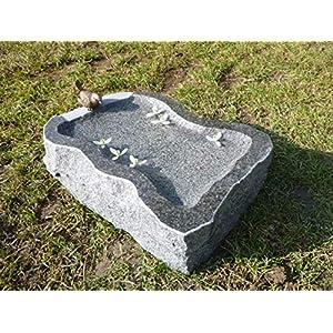 Vogeltränke aus Granit Nr. 23 | Vogelbad aus Naturstein | Unikat | Handarbeit !
