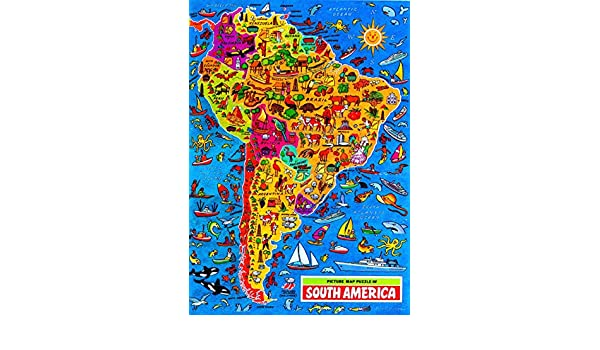 JIgsaw Map of South America Grovely Amazoncouk Toys  Games