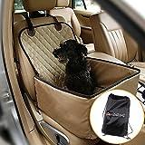 Hund Autositzbezug für Haustier Hund Katze Pet, rutschfeste wasserdichte verstellbare Autoschutzdecke, Hundetransport Vodersitzbezug Autositzabdeckung für SUV Auto usw. (Champagner)
