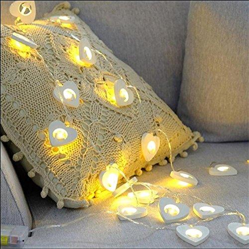 LY-JFSZ NoëL LED Series LumièRes Blanc Coeur en Forme De Chambre Simple LumièRes DéCoratives LumièRes LED Romantique SéRie
