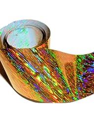 1,0m de Nail Art de Ticket Film d'écran/de transfert d'écran/: # FO-Holografic 51: or de Splash