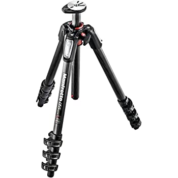 Manfrotto 055 Carbon Fibre 4 Section Tripod with Horizontal Column