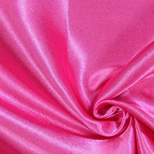 Fabulous Fabrics Polyestersatin 10 hot pink - Meterware ab 0,5m - zum Nähen von Kissen, Tischdecken und Bettwäsche (Hot Pink Stoff Tischdecke)