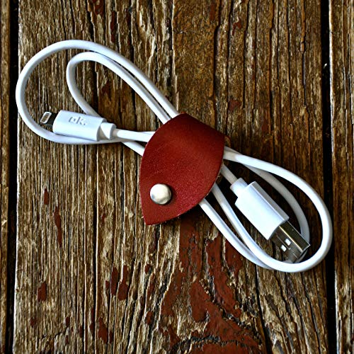 Kabelclip/Kabelbinder aus Leder