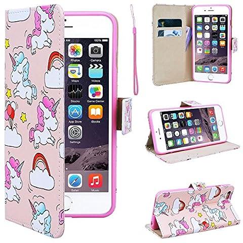 SmartLegend iPhone 6 Plus Wallet Case, iPhone 6S Plus Leather Case, Folio Flip Case Cover for Apple iPhone 6 Plus 6S Plus 5.5