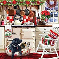 Otter House 1000 Piece Square Jigsaw Puzzle- Christmas Kitchen
