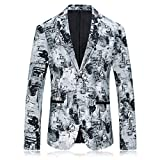 YHNSXZ Suit,Blazers,Suits&Blazers,Men Boutique Blazer Fashion Leisure Buttons Color Swatch Slim Men Jacket Coat As Shown, XXXL