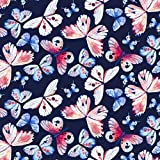 Fabric Styles FS306 Stretch-Stoff, Schmetterlings-Motiv,