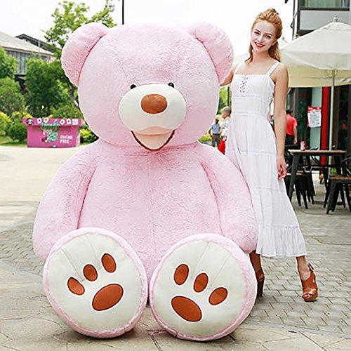 VERCART Groß Teddybär Spielzeug Kuscheltier Gigantischer Puppe Weiches Plüsch als Geschenk Geburtstagsgeschenk zur Dekoration Erwachsene Kinder Rosa 160CM