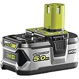 Ryobi RB18L50 Litiumbatteri 18 V, 5,0 Ah, Silver, Grön