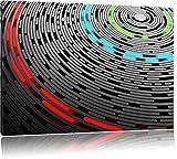 Abstrakte Schallplatte Love Music Format: 100x70 cm auf Leinwand, XXL riesige Bilder fertig gerahmt mit Keilrahmen, Kunstdruck auf Wandbild mit Rahmen, günstiger als Gemälde oder Ölbild, kein Poster oder Plakat