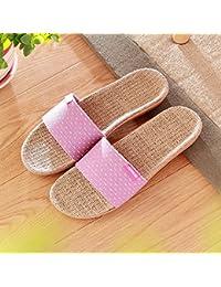 Zapatillas de verano ropa hombres y mujeres zapatillas de casa interior piso Suelo tarima zapatillas,Treinta y cinco,Purple