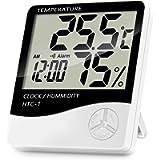 Lanhiem Indoor Digital Thermometer Hygrometer, Accurate Room Temperature Gauge Humidity Monitor with Alarm Clock - Easy…