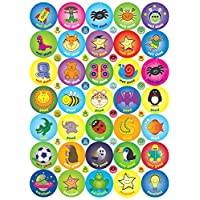 The Sticker Factory 70 x 38 mm and 48 x 10 mm A4 Compilation Sticker (Pack of 118)