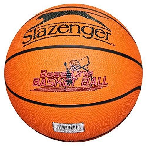Slazenger Erwachsene Basketball V-450 Baseline, Orange, 7, 905001 (Ball Synthetischen Nba)