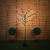 MiniSun – Decorativa lámpara de pie de estilo bonsái 'Sakura en flor' - 120 luces LED de...
