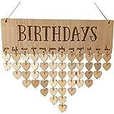 Anladia Geburtstagskalender Erinnerung Immerw/ährender Holz Kalender DIY Geschenk Dekoration f/ür Haus Party