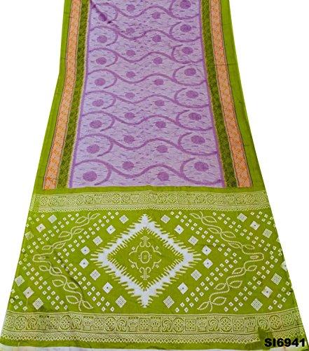 Silk-blend-vorhänge (Weinlese-Fertigkeit Saree indisches Dekor DIY Vorhang-Tuch Material Silk Blend Kleid Textil gedruckt Sari)