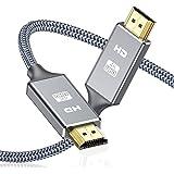 Cable HDMI 4K 2 Metros, 2.0 Cable HDMI de Alta Velocidad soporta 4K Ultra HD, Ethernet,3D,2160P,1080P,BLU-Ray,TV,Playstation