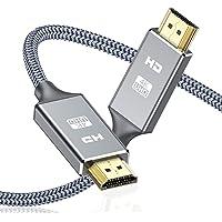 Câble HDMI 4k Ultra HD[2m],Câble HDMI 2.0 en Nylon Tressé avec Ethernet 3D,4K et Retour Audio - Vidéo 4K 2160p Full HD…