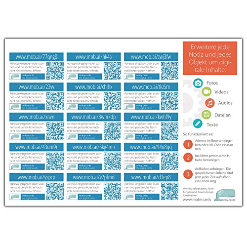 mobycards 15 QR-Code Sticker Bog...